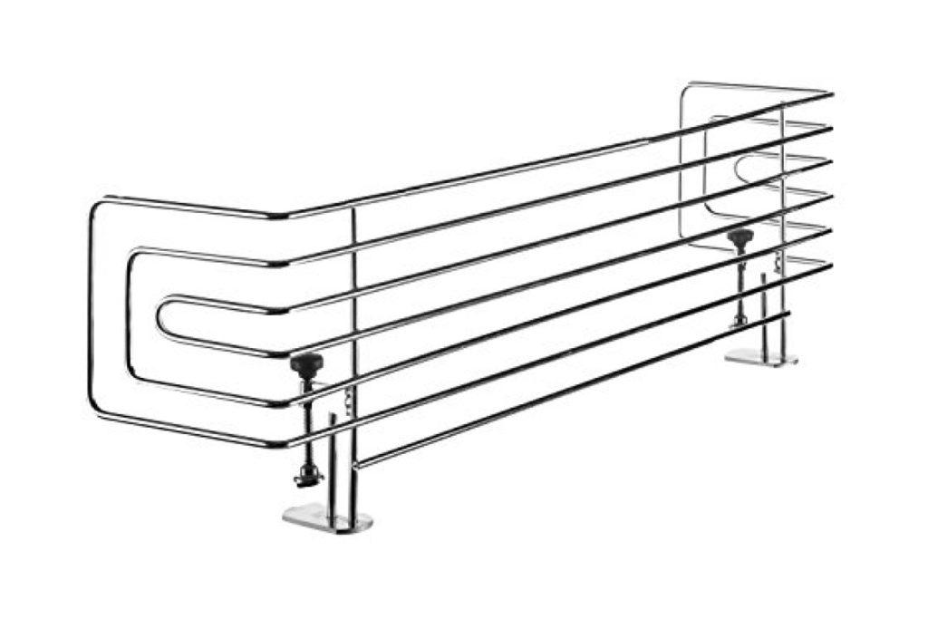 H 12 cm 57-90 cm Silber Reer 20015 Design Line Herdschutz Kindersicherung